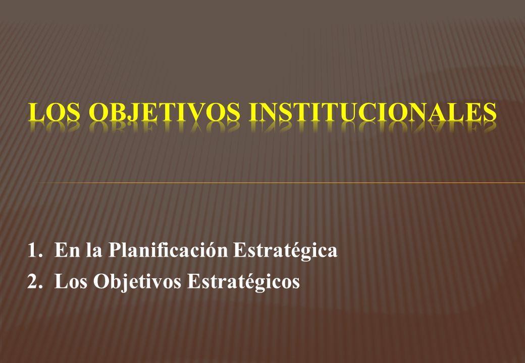 LOs OBJETIVOS INSTITUCIONALES