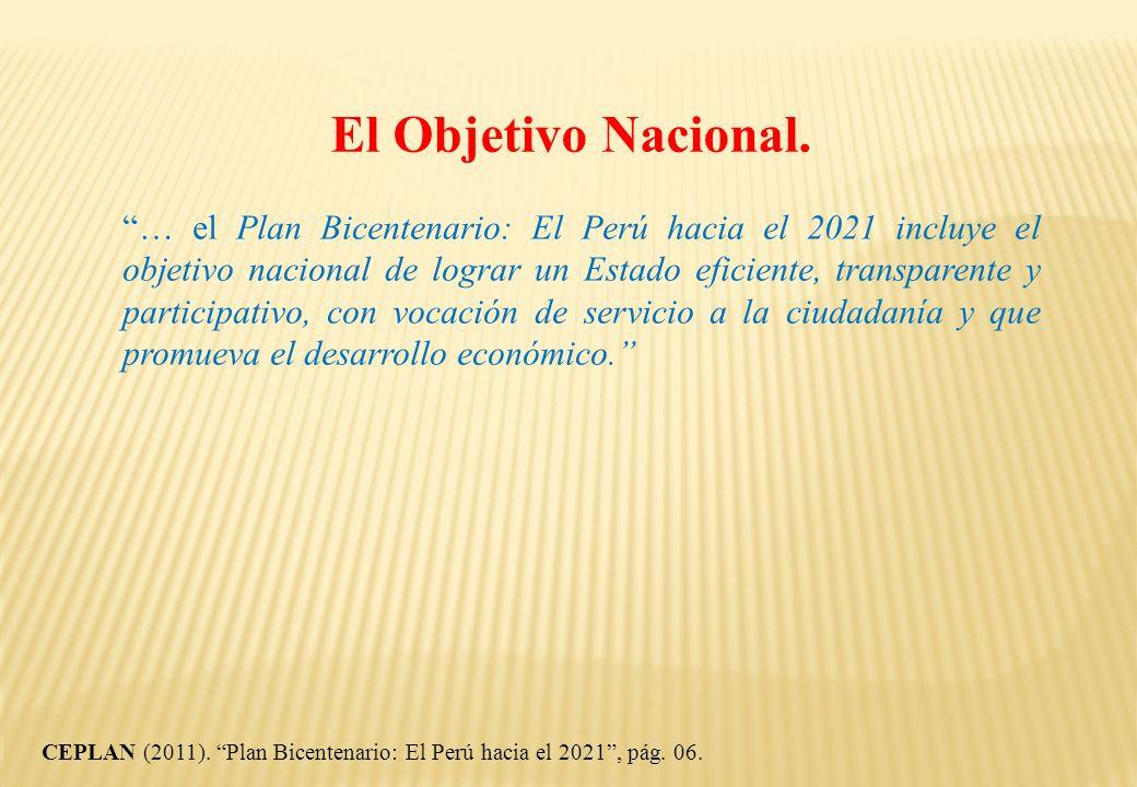 El Objetivo Nacional.