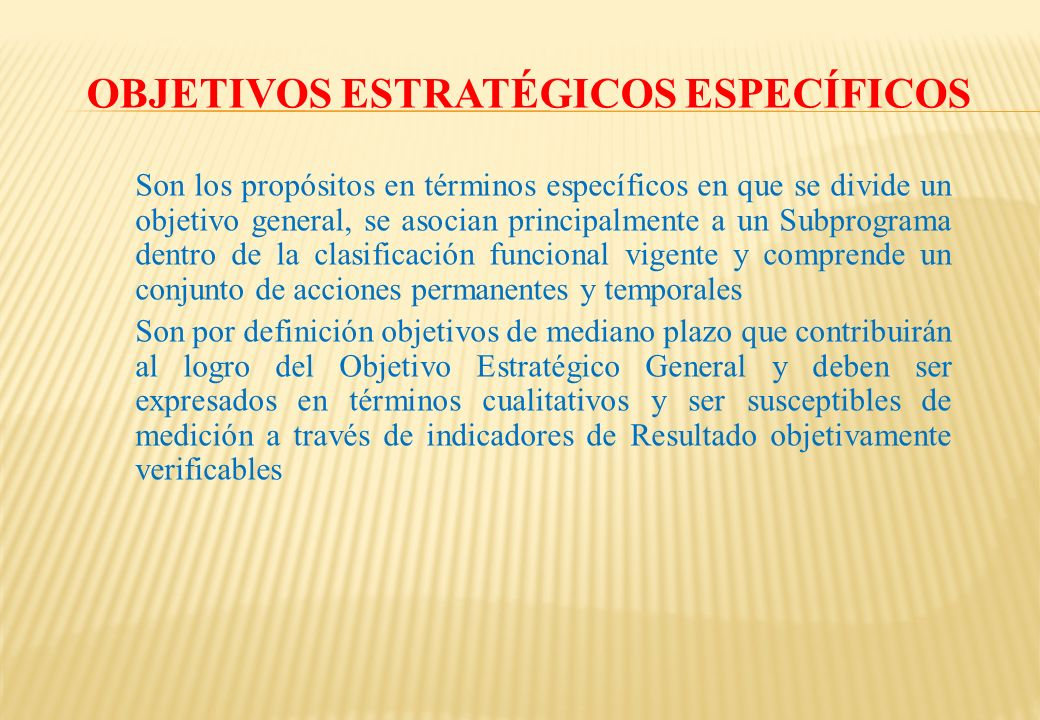 Objetivos Estratégicos Específicos