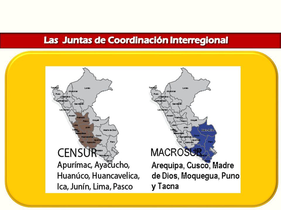 Las Juntas de Coordinación Interregional