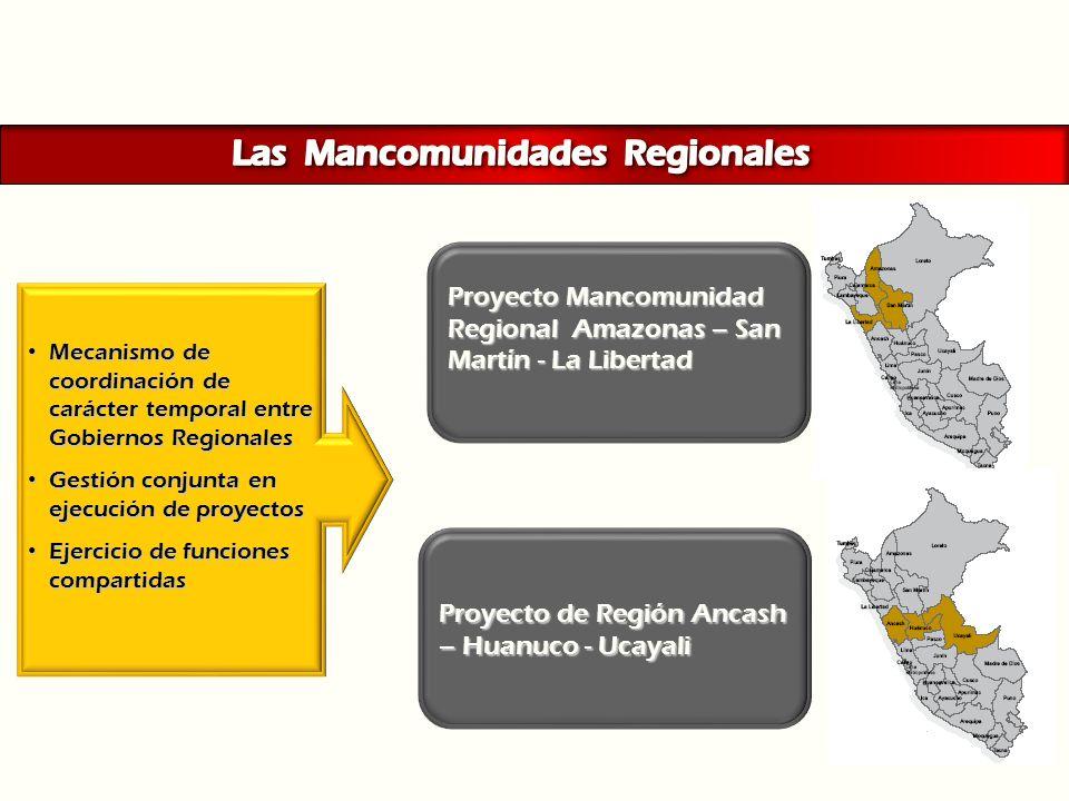 Las Mancomunidades Regionales