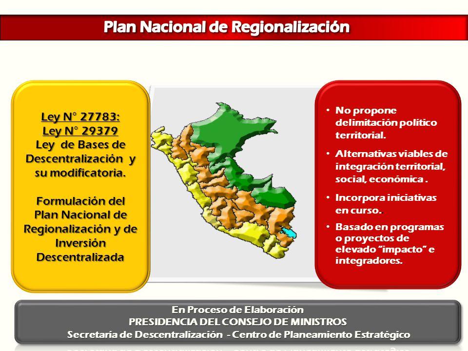 Plan Nacional de Regionalización