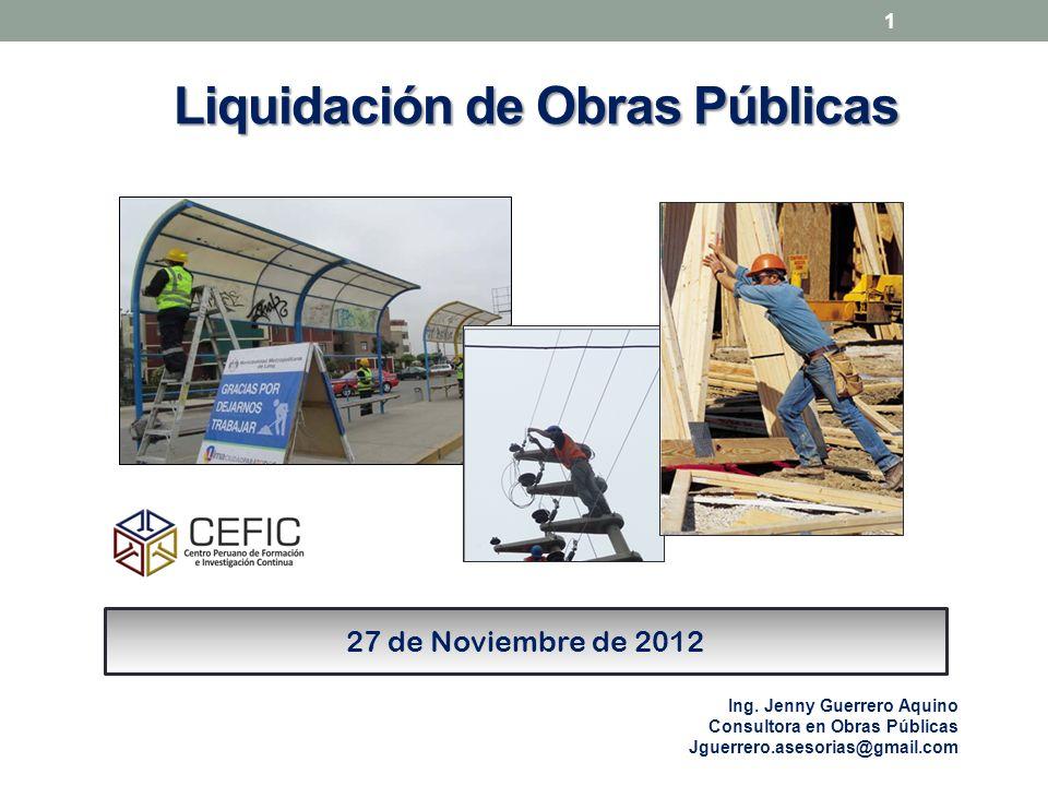 Liquidación de Obras Públicas