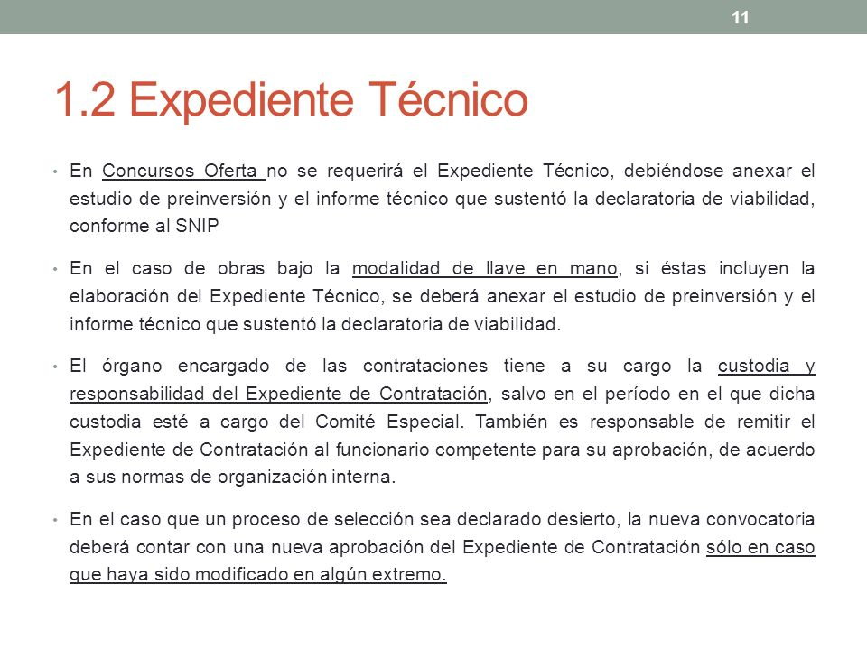 1.2 Expediente Técnico
