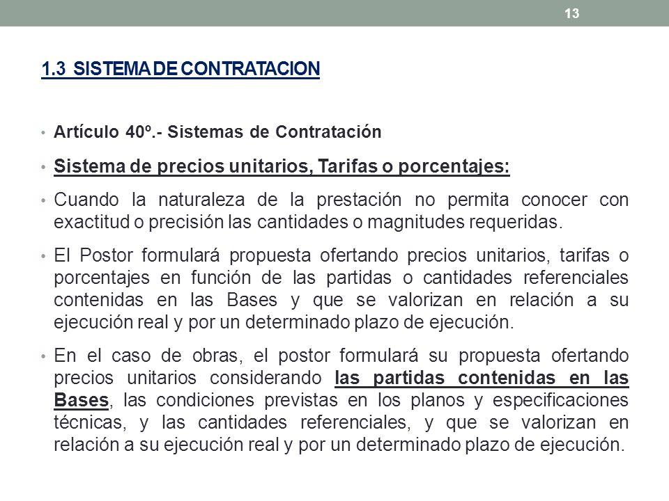 1.3 SISTEMA DE CONTRATACION