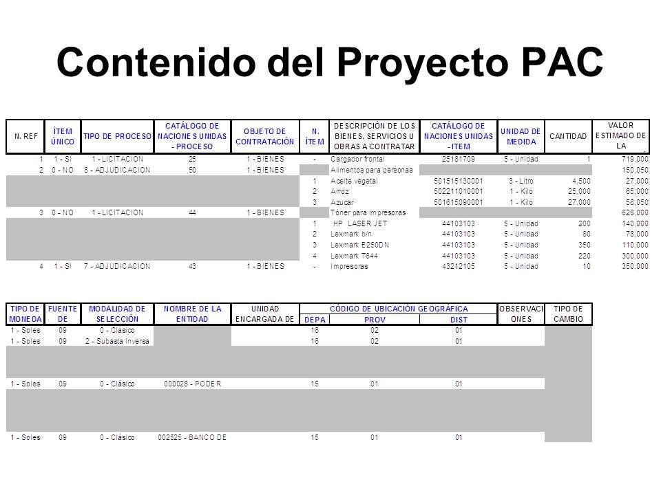 Contenido del Proyecto PAC