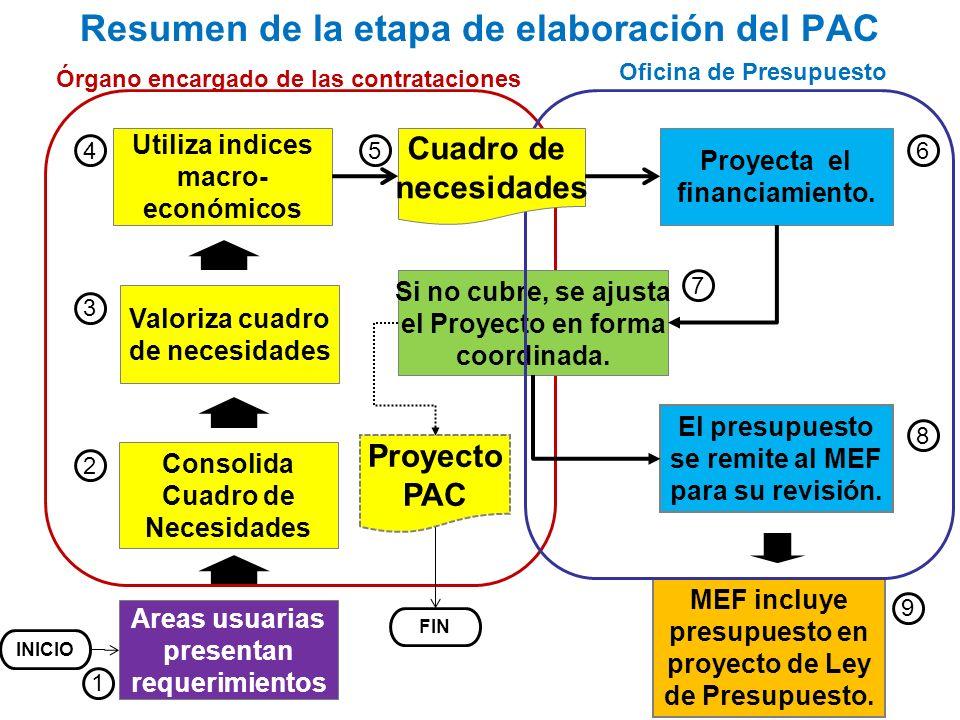 Resumen de la etapa de elaboración del PAC