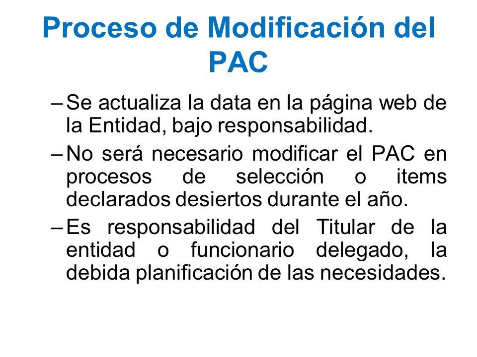 Proceso de Modificación del PAC
