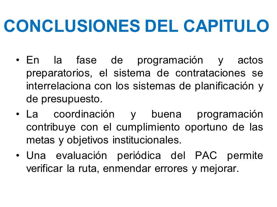 CONCLUSIONES DEL CAPITULO