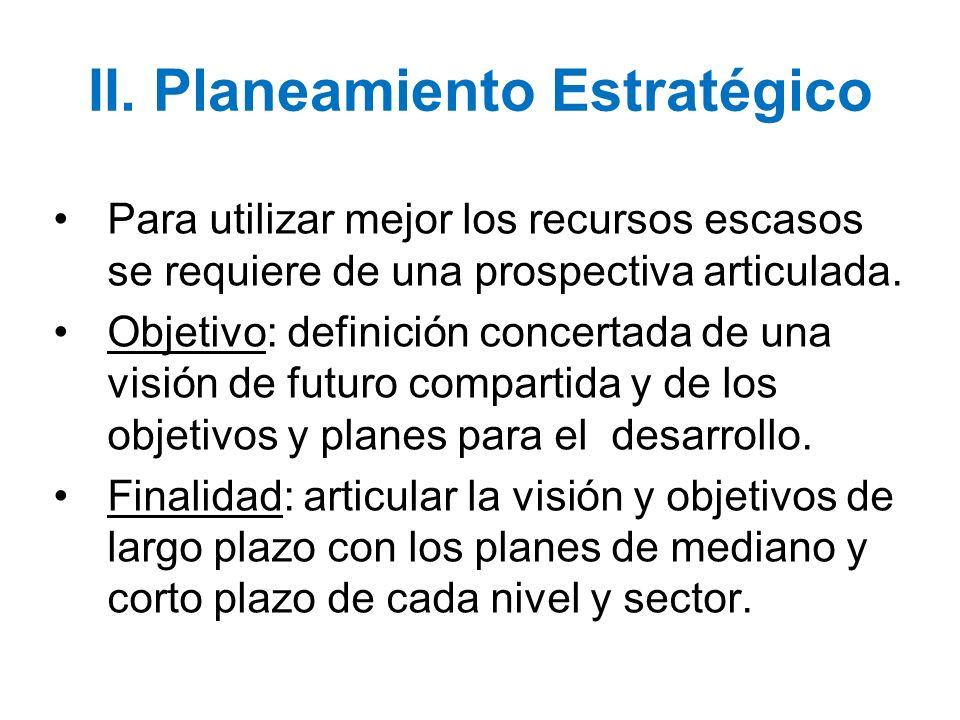 II. Planeamiento Estratégico