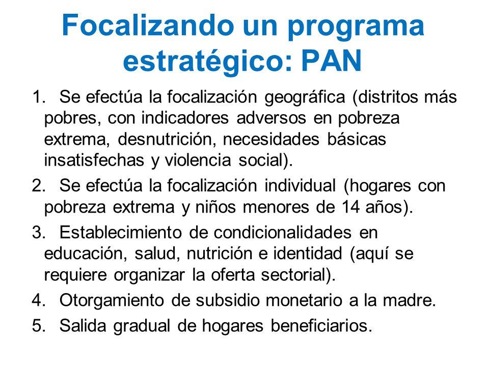Focalizando un programa estratégico: PAN
