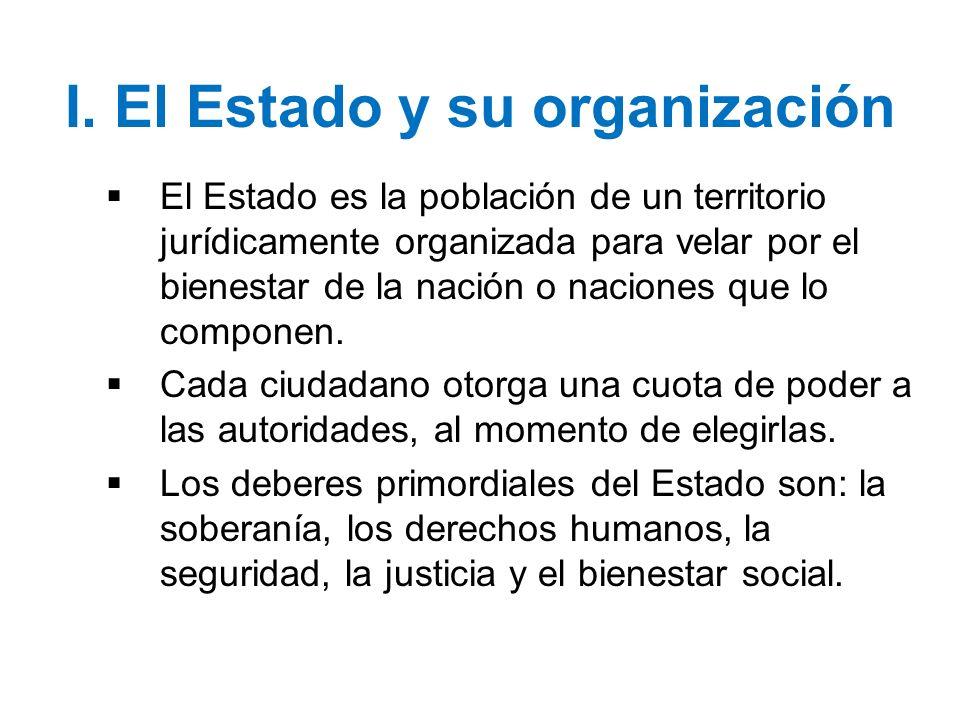 I. El Estado y su organización