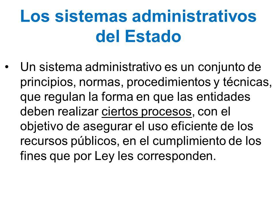Los sistemas administrativos del Estado
