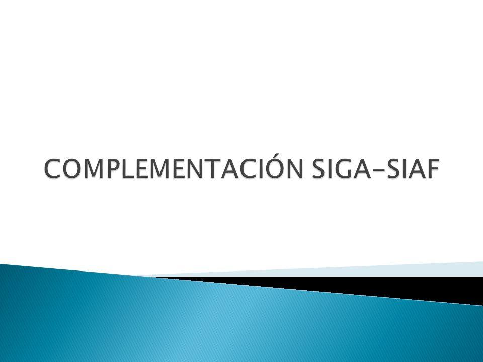COMPLEMENTACIÓN SIGA-SIAF