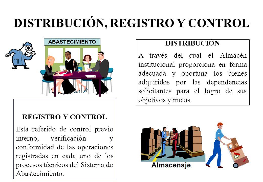 DISTRIBUCIÓN, REGISTRO Y CONTROL