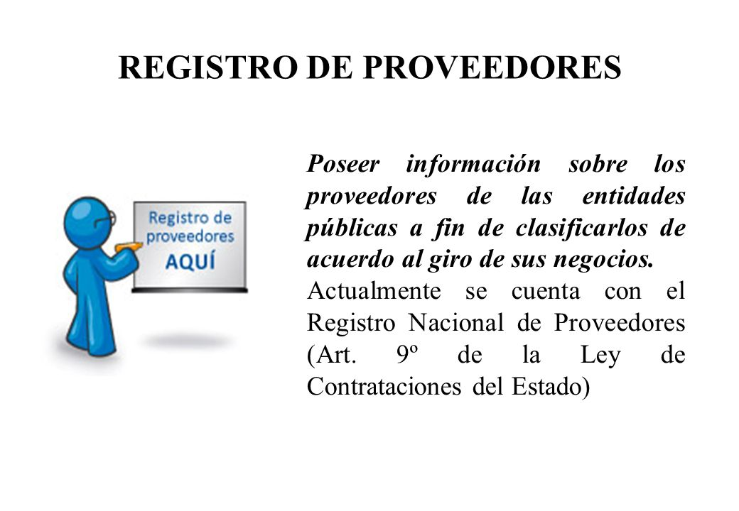 REGISTRO DE PROVEEDORES