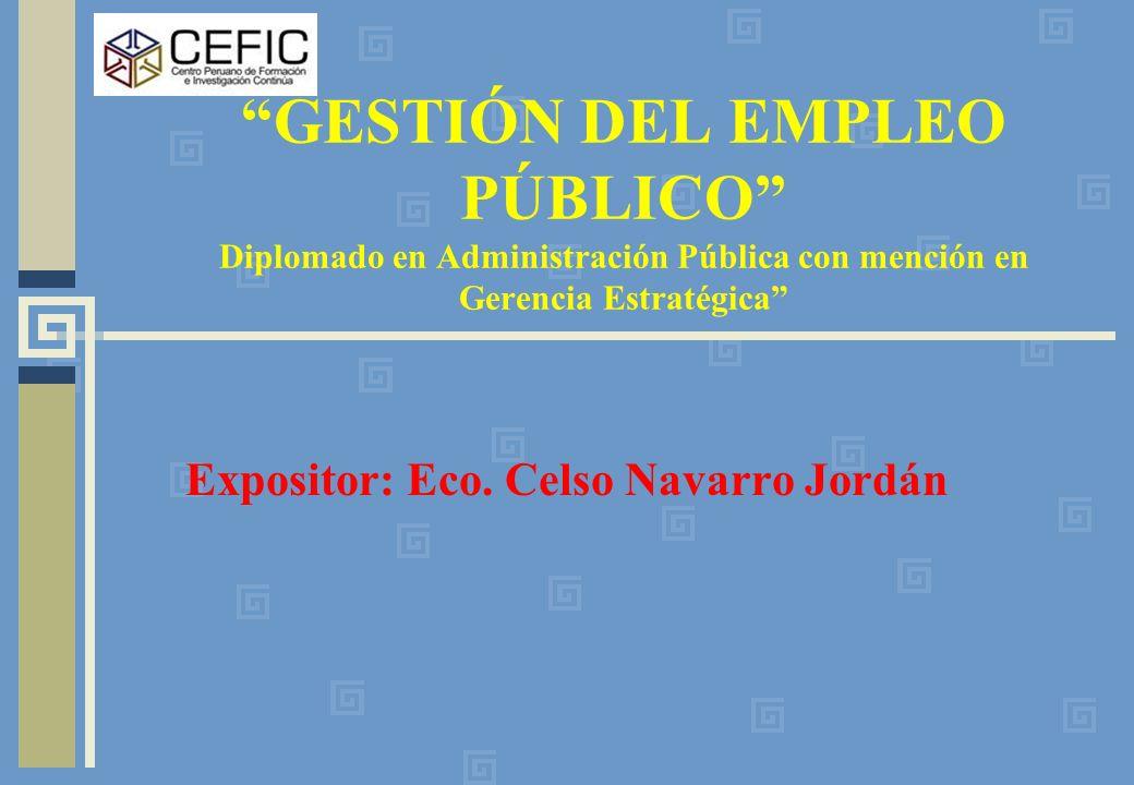 Expositor: Eco. Celso Navarro Jordán
