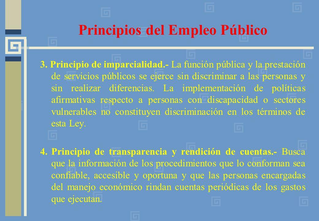 Principios del Empleo Público