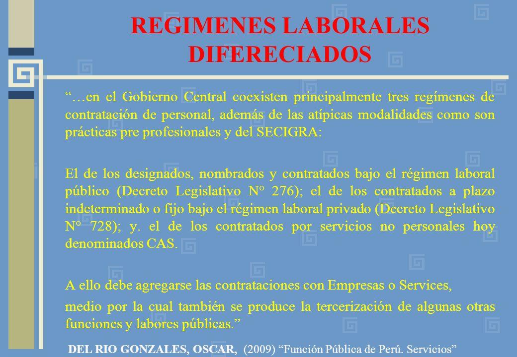 REGIMENES LABORALES DIFERECIADOS
