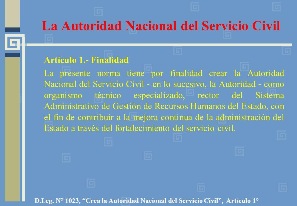La Autoridad Nacional del Servicio Civil