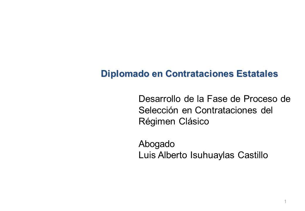 Diplomado en Contrataciones Estatales