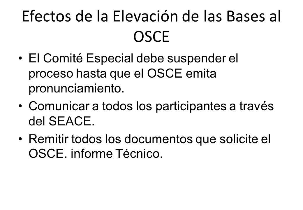 Efectos de la Elevación de las Bases al OSCE