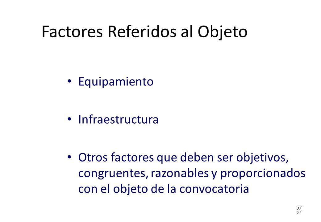 Factores Referidos al Objeto
