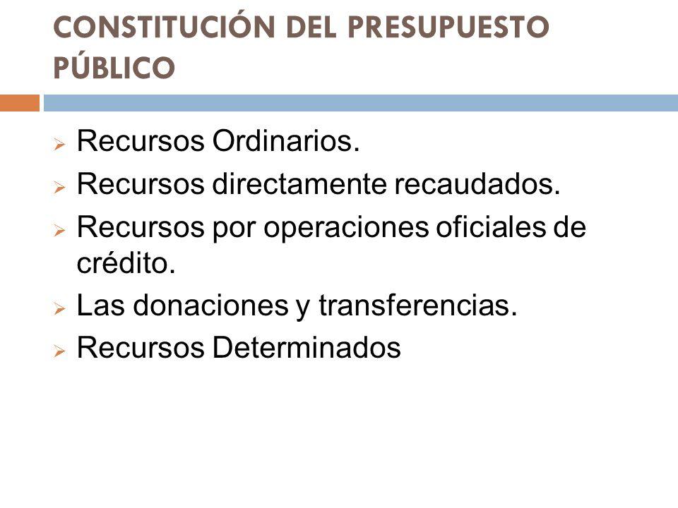 CONSTITUCIÓN DEL PRESUPUESTO PÚBLICO