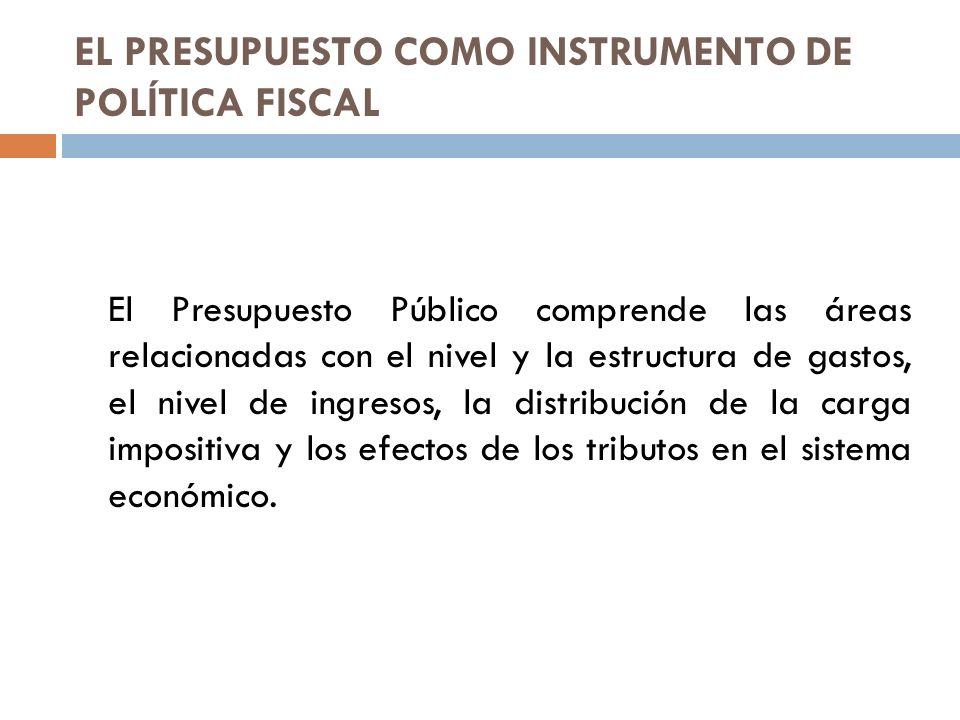 EL PRESUPUESTO COMO INSTRUMENTO DE POLÍTICA FISCAL
