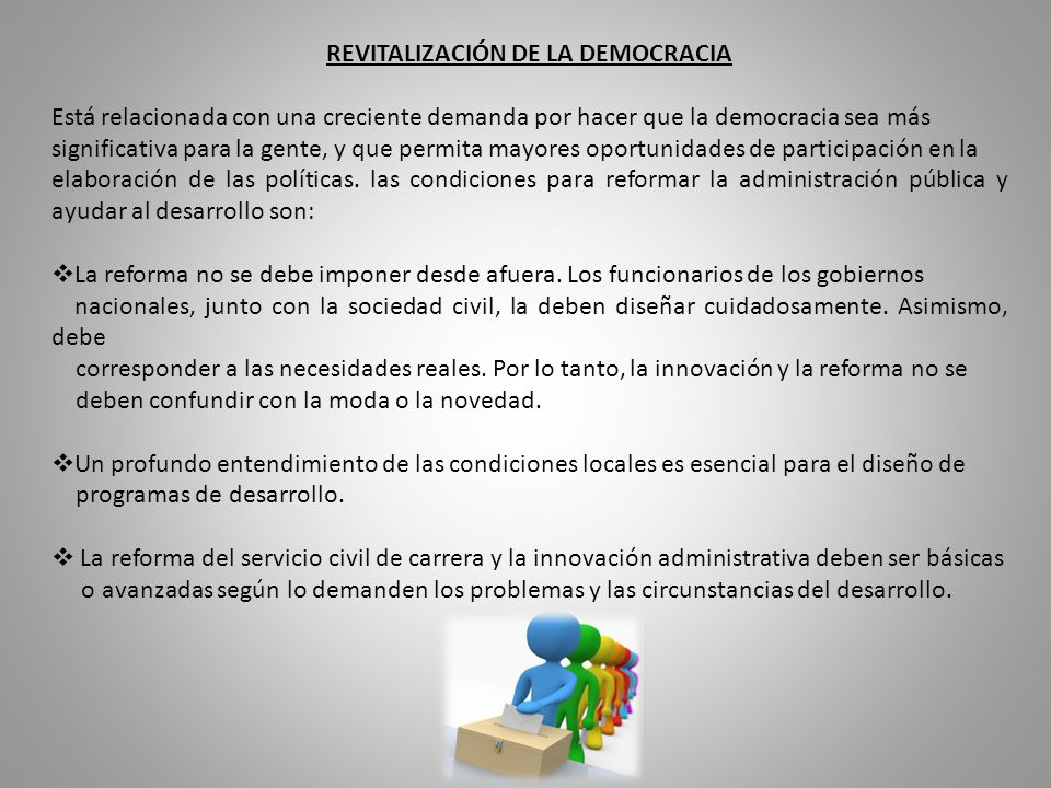 REVITALIZACIÓN DE LA DEMOCRACIA