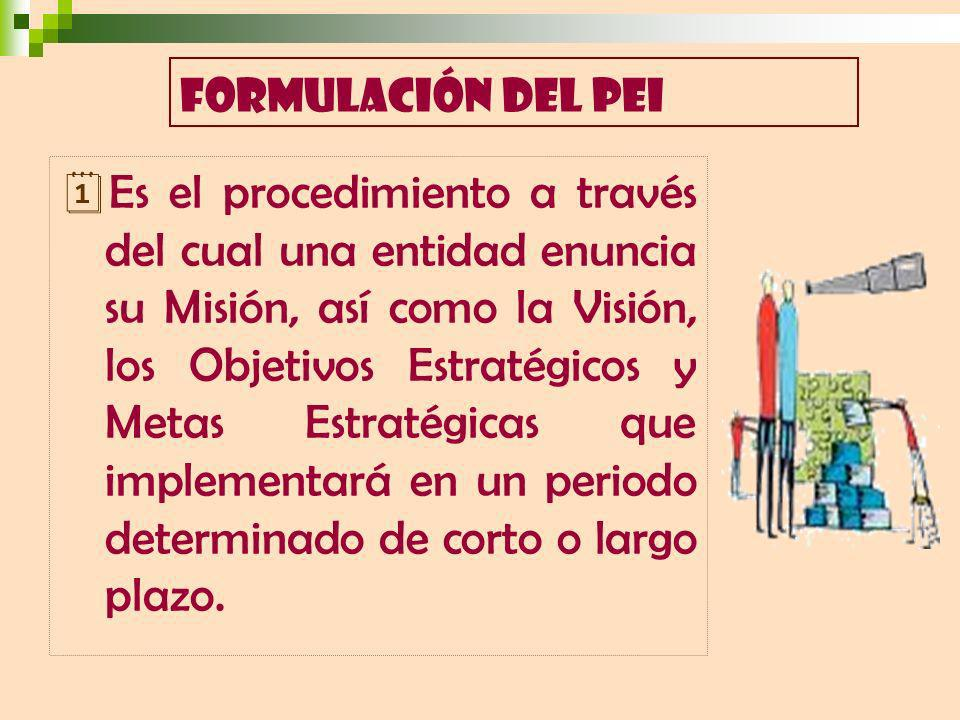FORMULACIÓN DEL PEI