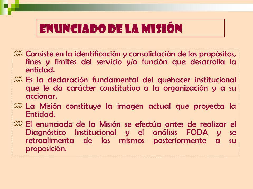 ENUNCIADO DE LA MISIÓN