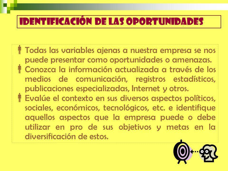 Identificación de las oportunidades