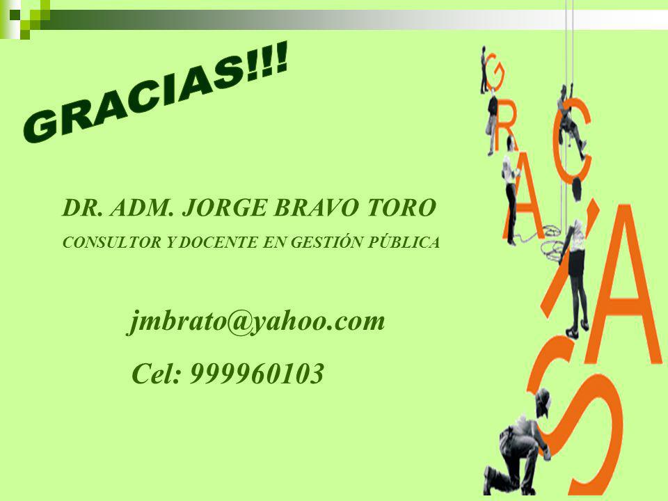 GRACIAS!!! jmbrato@yahoo.com Cel: 999960103 DR. ADM. JORGE BRAVO TORO