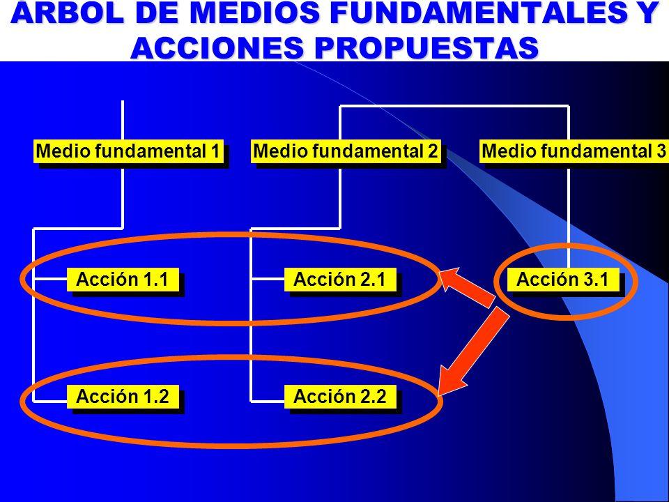 ÁRBOL DE MEDIOS FUNDAMENTALES Y ACCIONES PROPUESTAS