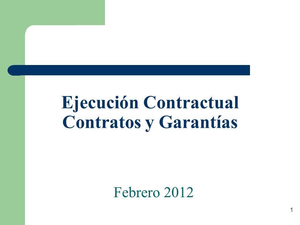 Ejecución Contractual Contratos y Garantías