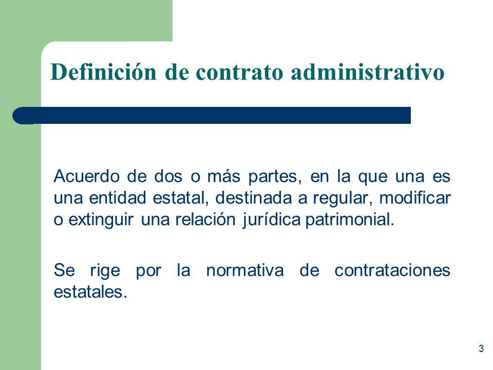 Definición de contrato administrativo