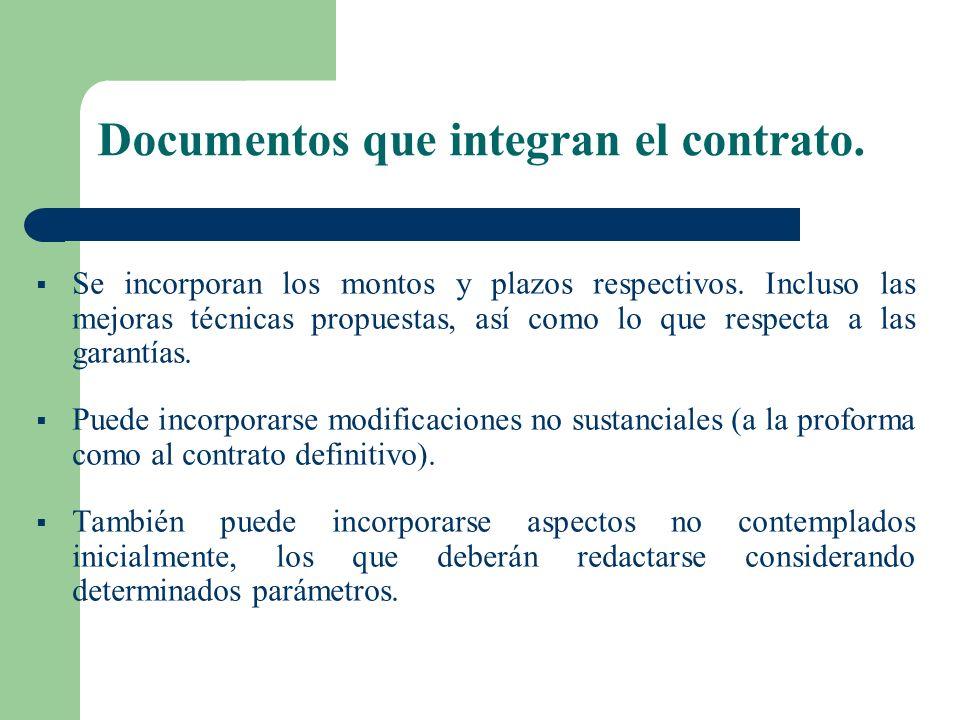Documentos que integran el contrato.
