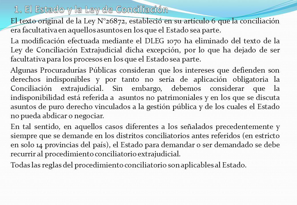 1. El Estado y la Ley de Conciliación