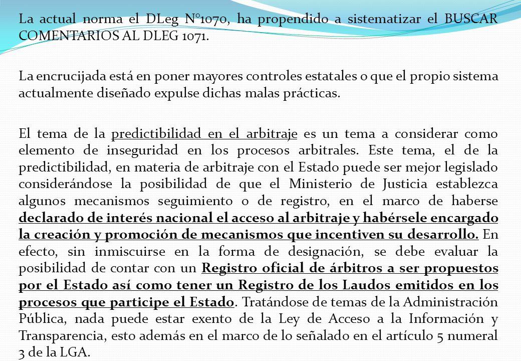 La actual norma el DLeg N°1070, ha propendido a sistematizar el BUSCAR COMENTARIOS AL DLEG 1071.