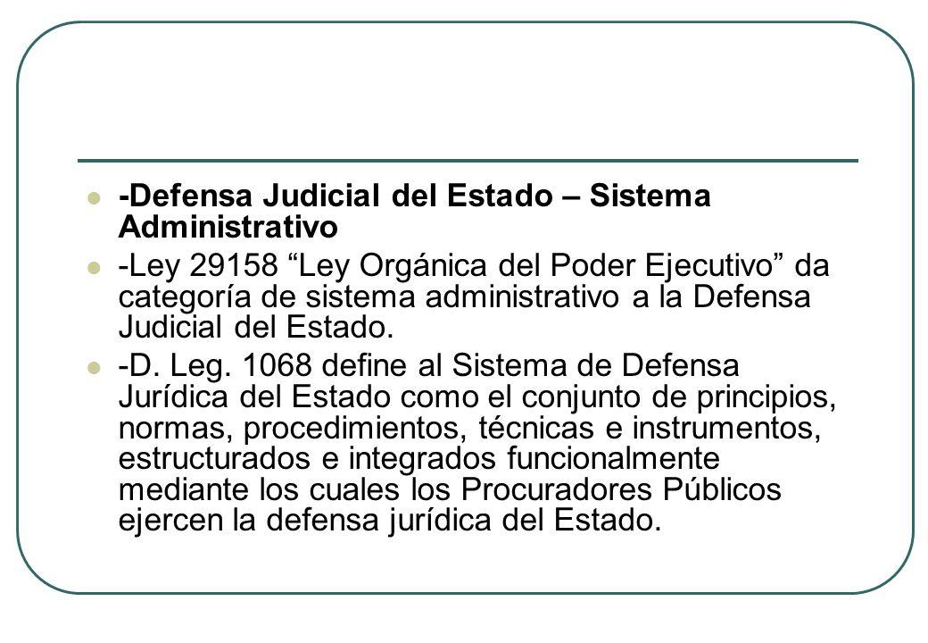 -Defensa Judicial del Estado – Sistema Administrativo