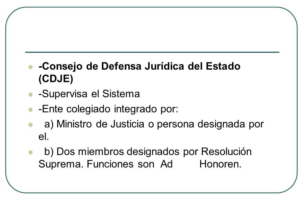 -Consejo de Defensa Jurídica del Estado (CDJE)