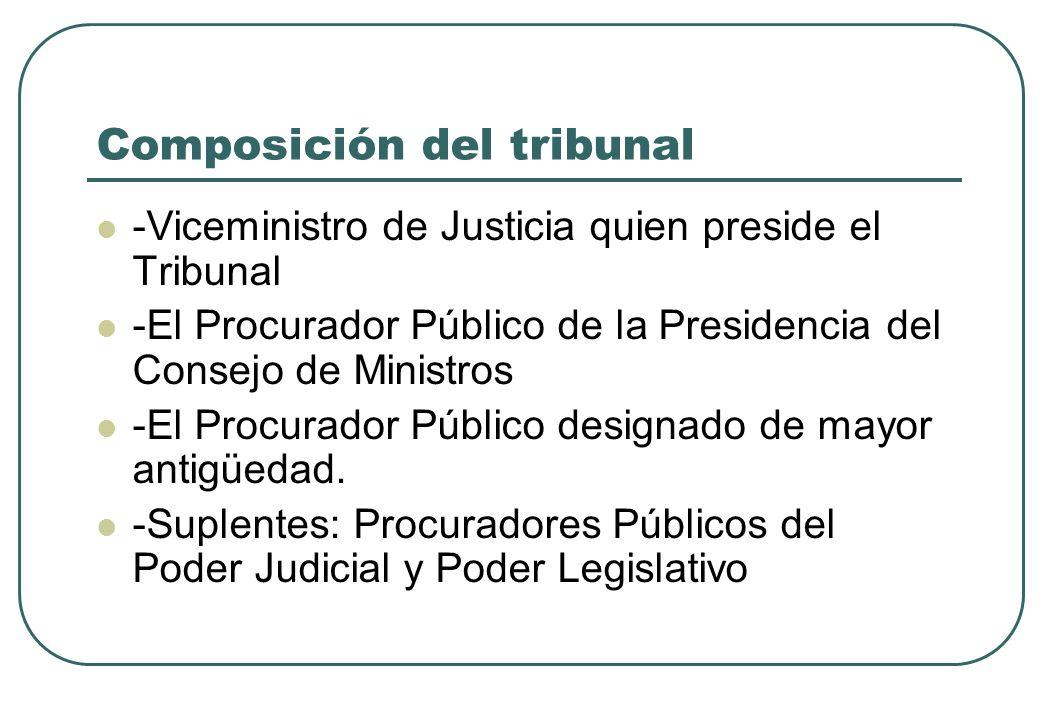 Composición del tribunal