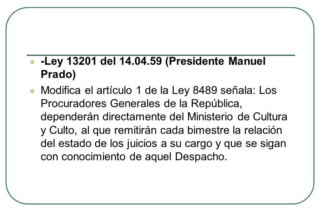 -Ley 13201 del 14.04.59 (Presidente Manuel Prado)