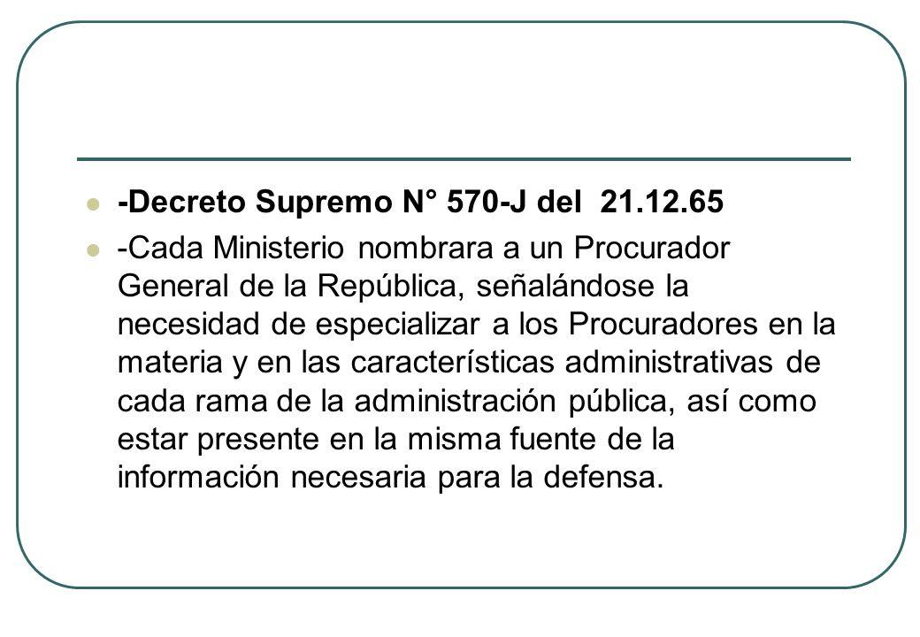 -Decreto Supremo N° 570-J del 21.12.65