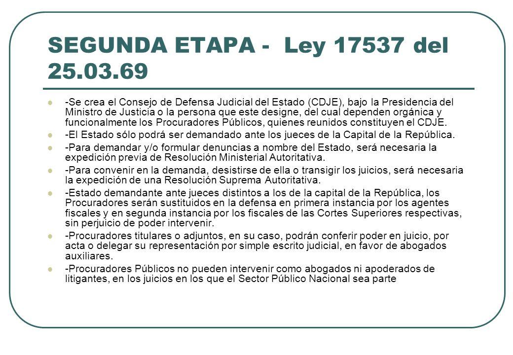 SEGUNDA ETAPA - Ley 17537 del 25.03.69