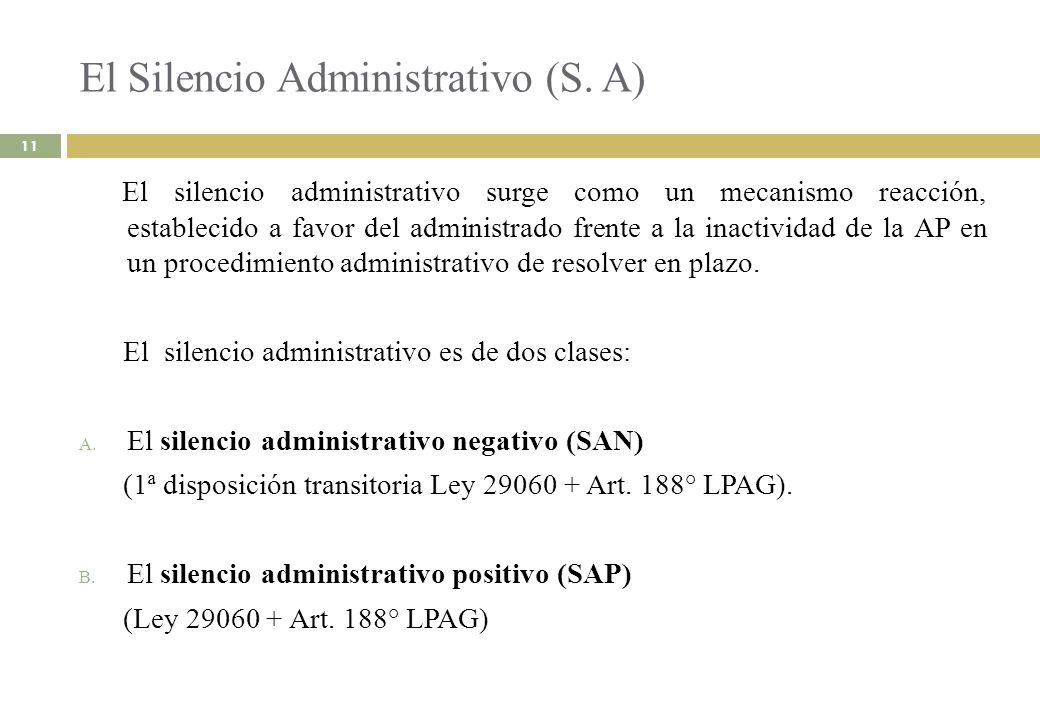 El Silencio Administrativo (S. A)