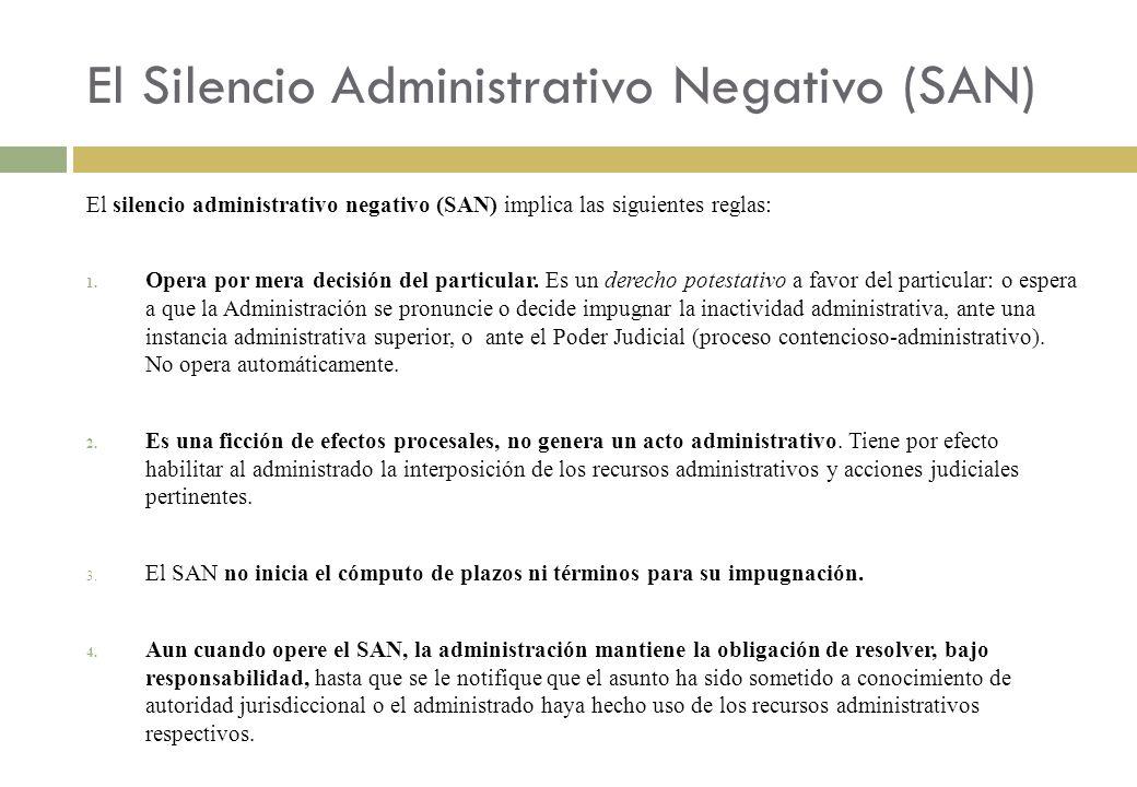 El Silencio Administrativo Negativo (SAN)