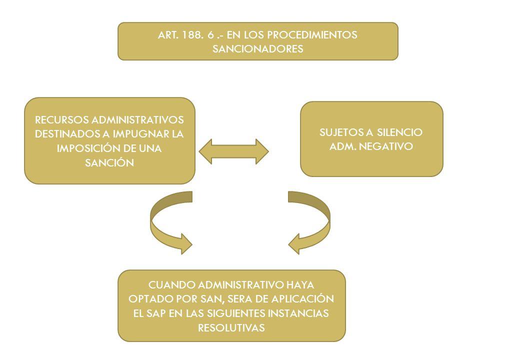 ART. 188. 6 .- EN LOS PROCEDIMIENTOS SANCIONADORES
