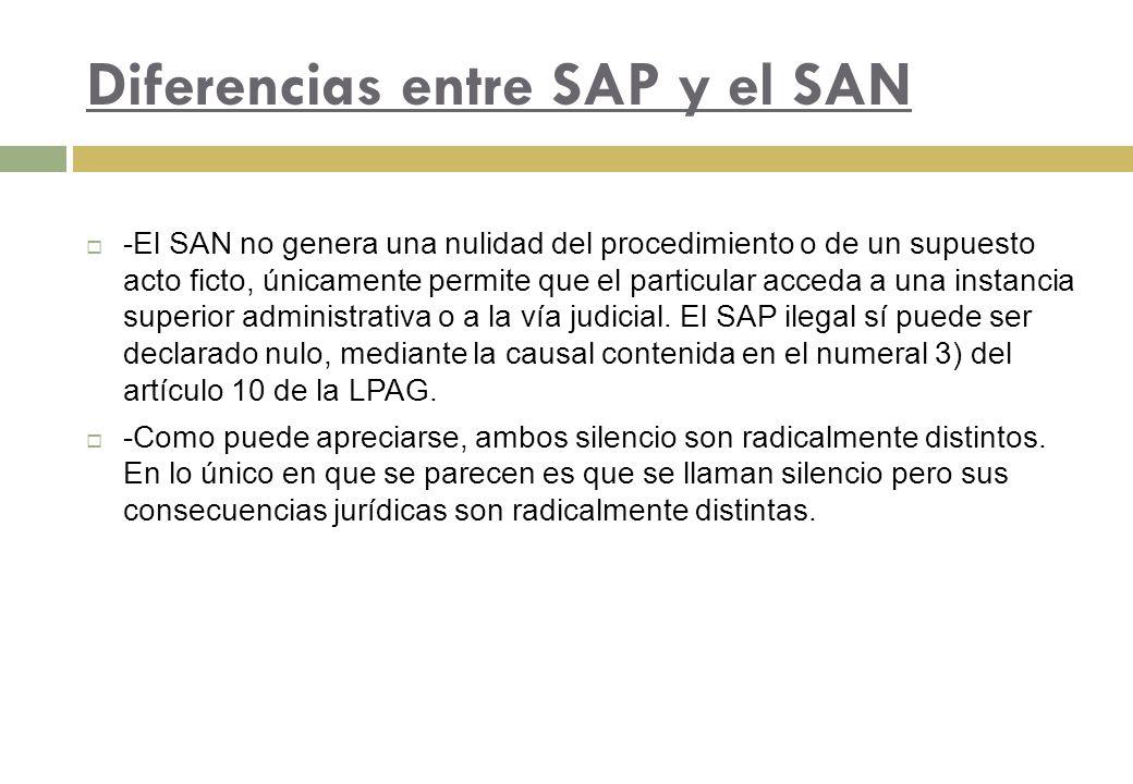 Diferencias entre SAP y el SAN